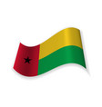 flag of the republic of guinea bissau vector image