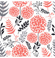 floral background living coral gray black colors vector image vector image