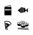 food simple related icons vector image vector image