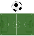 Football ball and soccer field vector image vector image
