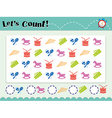 Game template for counting objects vector image