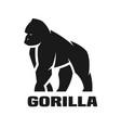 gorilla monochrome logo vector image