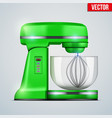 green stand mixer vector image