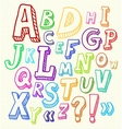 Hand drawn abc letters vector image vector image