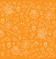 hand-drawn halloween orange seamless pattern with vector image vector image