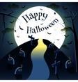Happy halloween moon vector image vector image