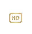 HD computer symbol vector image vector image