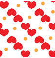 heart red and polka seamless pattern vector image vector image