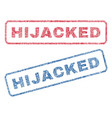 hijacked textile stamps vector image vector image