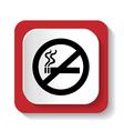 icon no smoking vector image vector image
