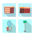 isolated object of furniture and apartment sign vector image