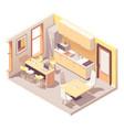 isometric office break room vector image vector image