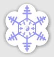 jin jang snowflake vector image