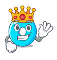 king number zero isolated on the mascot vector image vector image