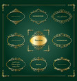 lixury golden frames and borders set vector image vector image