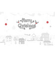 merry christmas winter snow countryside vector image vector image