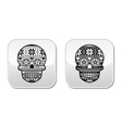 Mexican black sugar skull buttons with winter Nord vector image vector image