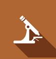 microscope icon with a long shadow vector image vector image