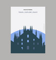 milan cathedral italy vintage style landmark vector image