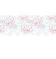 modern line art florals horizontal border vector image