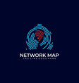network map design template vector image vector image