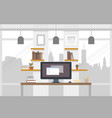 office worlplace working in flat design work vector image