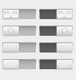 on and off control slider buttons set of white vector image