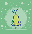 pear cute fruits cartoons vector image