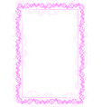 pink frame and border with gear-type mechanism vector image