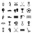 premium icons set cartoon style vector image vector image