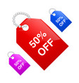sale 50 off label vector image