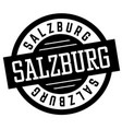 salzburg black and white badge vector image vector image