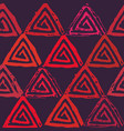seamless pattern with textured triangles vector image