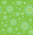 seamless repeat pattern with chakra anahata vector image vector image
