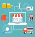 set of concept for marketing and shopping vector image vector image