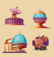 set with objects for space exploration vector image vector image