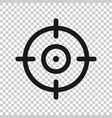shooting target icon in transparent style aim