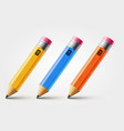 short pencil realistic pencil isolated vector image vector image