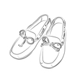 Silhouette of shoes on a white background vector image vector image