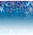 snowflakes greeting card with a snowy pattern vector image vector image