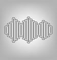 sound waves icon pencil sketch imitation vector image vector image