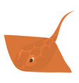 stingray icon cartoon style vector image
