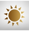 Sun sign Flat style icon vector image vector image