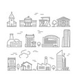 town buildings icon urban architecture village vector image vector image
