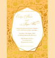 wedding invitation luxury roses floral invite vector image