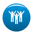 winning teamwork icon blue vector image