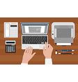 Secretary workplace vector image