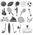Basic Sport Icons Set vector image