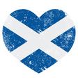 Scotland retro heart flag vector image