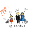 My family vector image